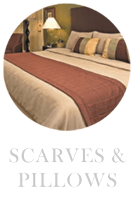 scarves and pillows for hotels and resorts